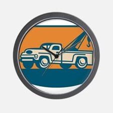 Vintage Tow Wrecker Pick-up Truck Wall Clock
