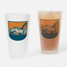 Vintage Tow Wrecker Pick-up Truck Drinking Glass