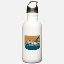 Vintage Tow Wrecker Pick-up Truck Water Bottle