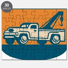 Vintage Tow Wrecker Pick-up Truck Puzzle