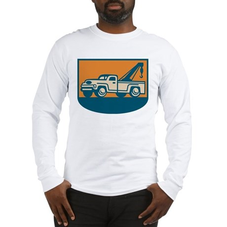 Vintage Tow Wrecker Pick-up Truck Long Sleeve T-Sh