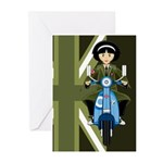 Mod Girl on Retro Scooter Cards (Pk of 10)