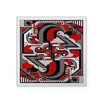 Vintage Deco Tech Square Sticker 3