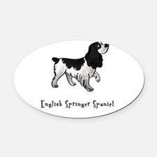 3-illustrated.png Oval Car Magnet