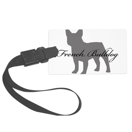 greysilhouette2.png Large Luggage Tag