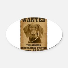 6-Wanted _V2.png Oval Car Magnet