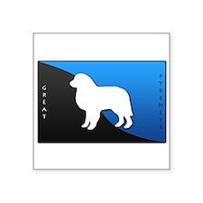 "blueblack.png Square Sticker 3"" x 3"""