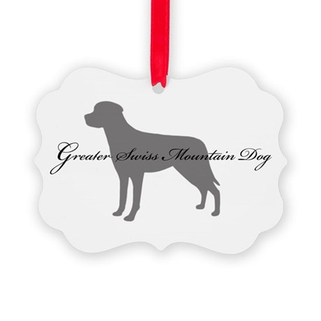 9-greysilhouette2.png Picture Ornament