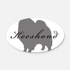 16-greysilhouette2.png Oval Car Magnet