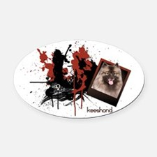 keeshond.png Oval Car Magnet