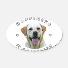 2-happiness.png Oval Car Magnet
