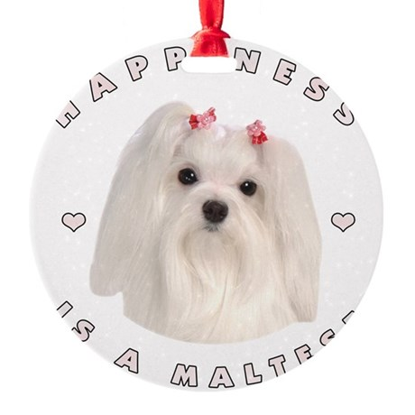 2-happiness.png Round Ornament