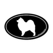 Samoyed Oval Car Magnet