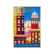 Pakistan Travel Poster 1 Rectangle Magnet