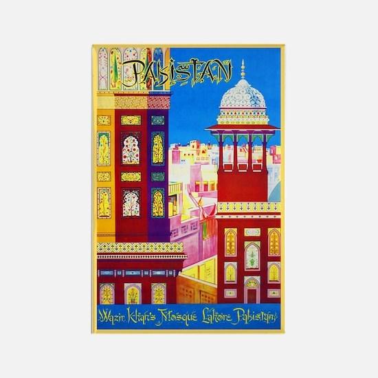 Pakistan Travel Poster 1 Rectangle Magnet
