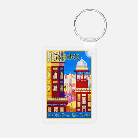 Pakistan Travel Poster 1 Keychains