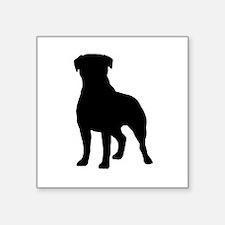 "Rottweiler Square Sticker 3"" x 3"""