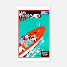 New Hampshire Travel Poster 2 Decal