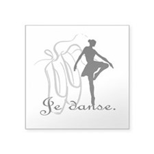 "Je danse Square Sticker 3"" x 3"""