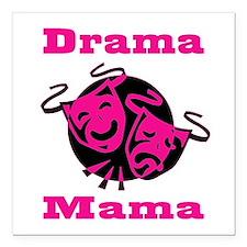 "Drama Mama Square Car Magnet 3"" x 3"""