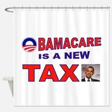 OBAMACARE TAX.jpg Shower Curtain