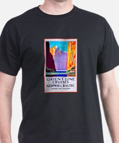 Norway Travel Poster 2 T-Shirt