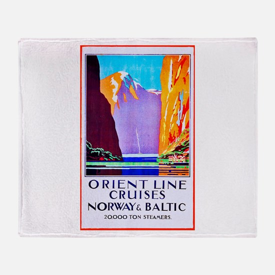 Norway Travel Poster 2 Throw Blanket