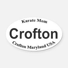 Crofton Maryland Karate Mom Oval Car Magnet