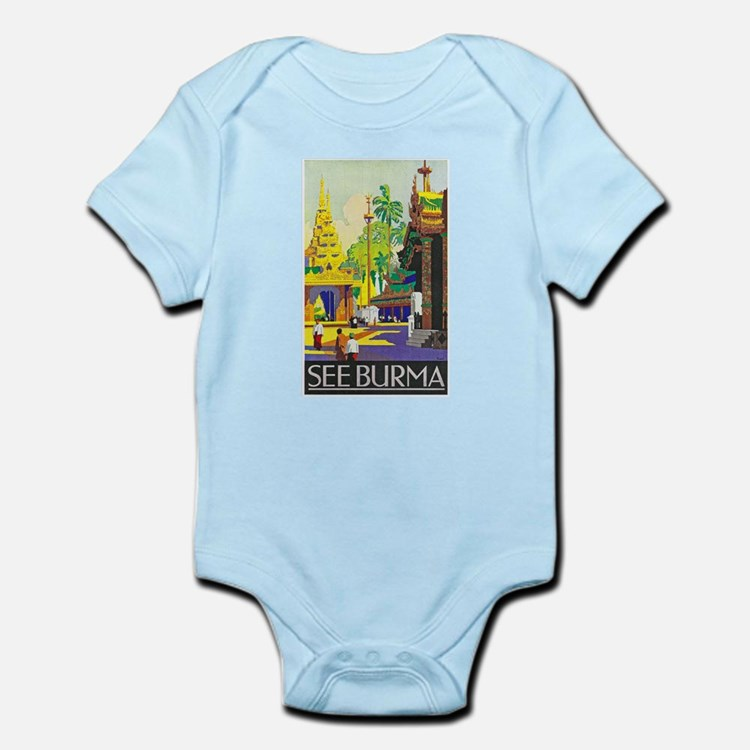 Burma Travel Poster 1 Infant Bodysuit
