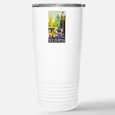 Burma Travel Poster 1 Travel Mug