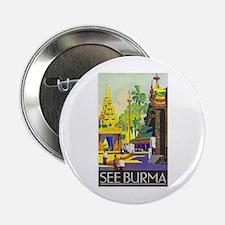 "Burma Travel Poster 1 2.25"" Button"