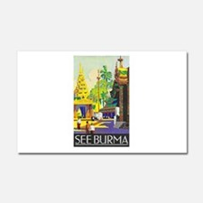 Burma Travel Poster 1 Car Magnet 20 x 12