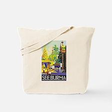 Burma Travel Poster 1 Tote Bag