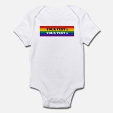 Personalize Cute Rainbow Infant Bodysuit