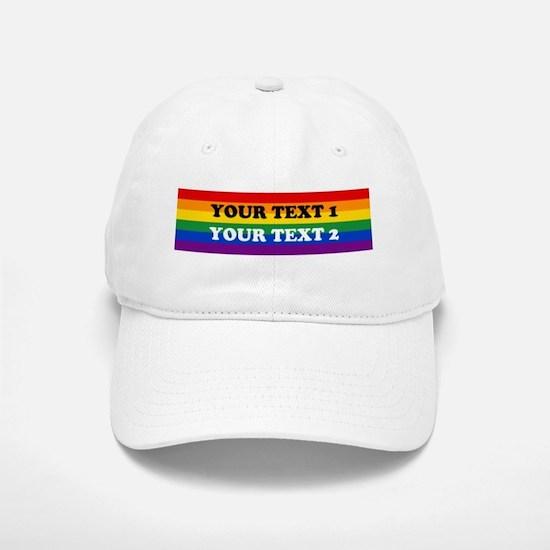Personalize Cute Rainbow Baseball Baseball Cap
