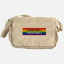 Personalize Cute Rainbow Messenger Bag