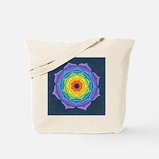 Rainbow Lotus Mandala Tote Bag