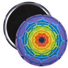 Rainbow Lotus Mandala Magnet