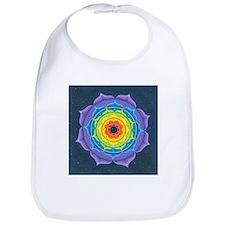 Rainbow Lotus Mandala Bib
