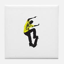 Skateboarder Skateboarding Tile Coaster
