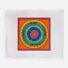 Gypsy Wagon Chakra Mandala Throw Blanket