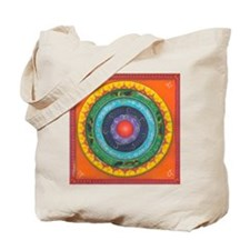 Gypsy Wagon Chakra Mandala Tote Bag