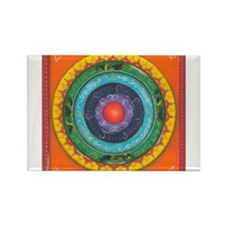 Gypsy Wagon Chakra Mandala Rectangle Magnet