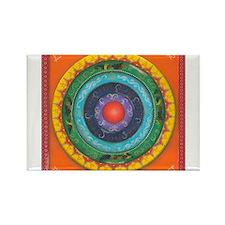 Gypsy Wagon Chakra Mandala Rectangle Magnet