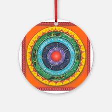 Gypsy Wagon Chakra Mandala Ornament (Round)
