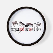 Cute Laughingdonkey Wall Clock