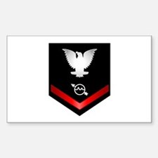 Navy PO3 Operations Specialist Sticker (Rectangle)