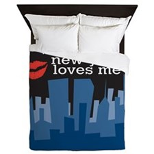 Someone In New York Queen Duvet