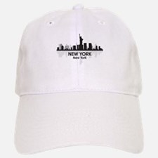 New York Skyline Baseball Baseball Cap