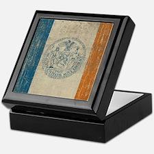 Vintage New York Flag Keepsake Box